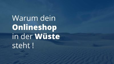 Onlineshop in der Wüste