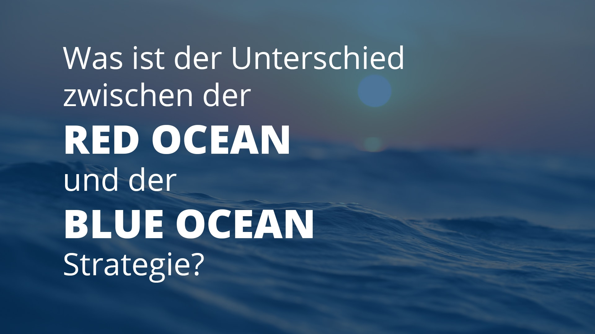 Blue Ocean Gewinnspiel